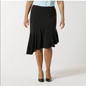 New Plus Size 1X Asymmetrical Black Skirt
